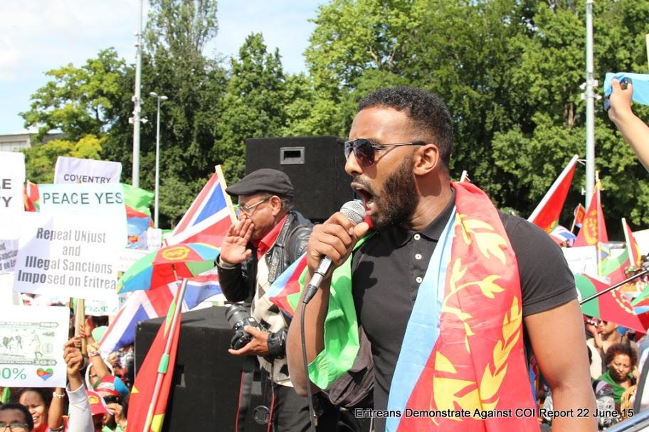 Eritrean Demonstrator in Geneva